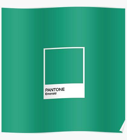 PANTONE Emerald Poster