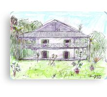Doctor's House, Old Leprosy Colony, Curieuse Island Canvas Print