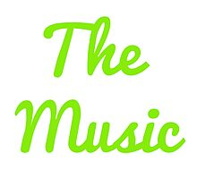 The Music - Green Photographic Print