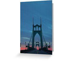 St Johns Bridge Greeting Card