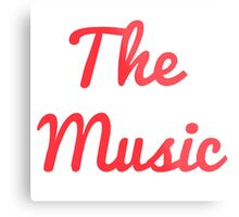 The Music - Red Metal Print