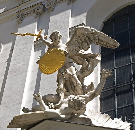 """""""St. Michael Slaying Lucifer """" By Lee D'Entremont"""