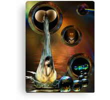 Just Dropping In! Canvas Print