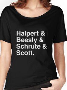 Halpert & Beesly & Schrute & Scott. Women's Relaxed Fit T-Shirt
