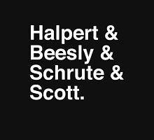 Halpert & Beesly & Schrute & Scott. Unisex T-Shirt