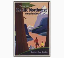 Pacific Northwest Vintage Art Kids Clothes
