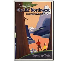 Pacific Northwest Vintage Art by AmazingMart