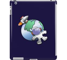 Spaceman and planet Earth iPad Case/Skin