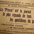 """"""" La Presse - 17 Avril 1930 """" by Juergen Weiss"""