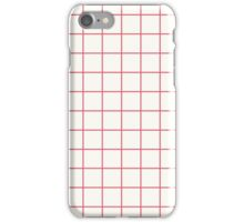 Grid- White iPhone Case/Skin