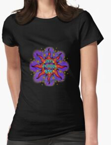 INFINITE LOVE GALACTIC OMMM BLOSSOM Womens Fitted T-Shirt