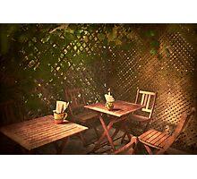 The Courtyard II - (Mangiacake Panini Shoppe) Photographic Print