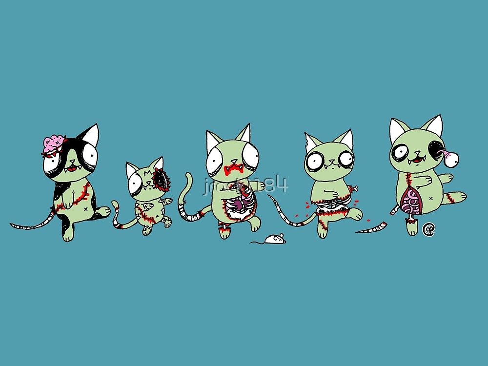 Zombie Cats by jrock1184