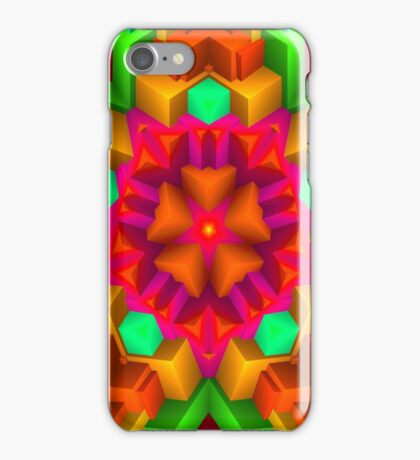 3D Pattern in a Vivid Wild Colors and Unique Style! iPhone Case/Skin