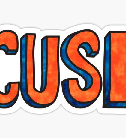 Cuse Block Tie Dye Sticker