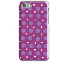Magenta blue yellow dots background iPhone Case/Skin