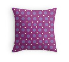 Magenta blue yellow dots background Throw Pillow