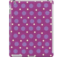 Magenta blue yellow dots background iPad Case/Skin