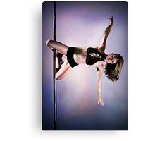Pole Art - Knee hold II Canvas Print