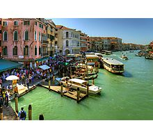 Crowded Venice Photographic Print