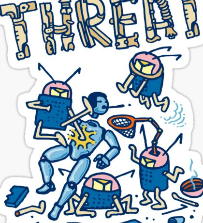 Threat -battle of the robots- Sticker