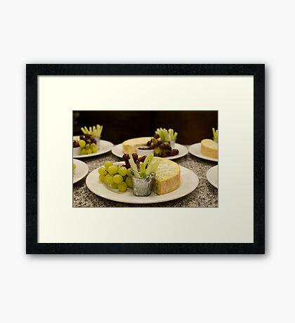 Stilton and Grapes Framed Print