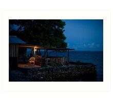 the Cafe, Jabor, Jaluit, Marshall Islands Art Print