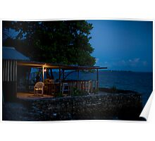the Cafe, Jabor, Jaluit, Marshall Islands Poster