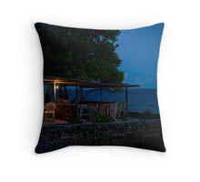 the Cafe, Jabor, Jaluit, Marshall Islands Throw Pillow