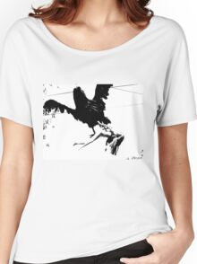 Giant Monsterbird Continues his Nefarious Journey Women's Relaxed Fit T-Shirt