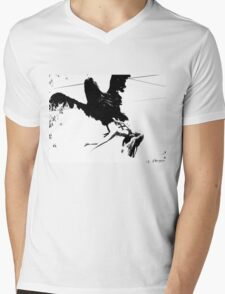 Giant Monsterbird Continues his Nefarious Journey Mens V-Neck T-Shirt