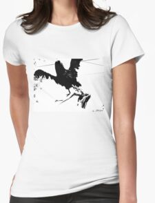 Giant Monsterbird Continues his Nefarious Journey Womens Fitted T-Shirt