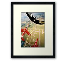 Red Arrows Gypo Roll Framed Print