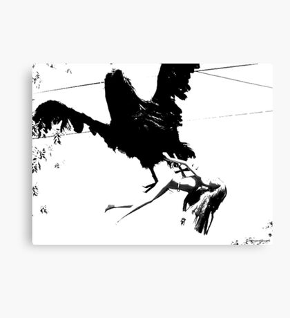 Giant Monsterbird Continues his Nefarious Journey Canvas Print