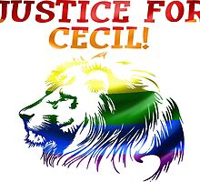 Justice For Cecil The Lion T Shirt LION PRIDE by zandosfactry