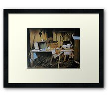 The Workplace from a Photo by Elenarstanila Framed Print