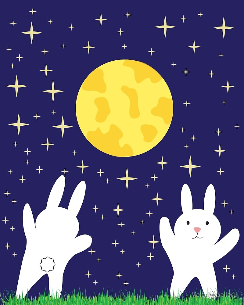 Moon Bunnies by ValeriesGallery
