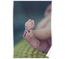 sweet tiny baby feet Poster