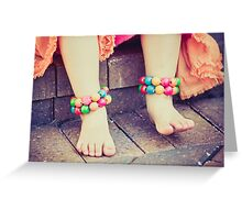 colorful, girly little feet Greeting Card