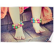 colorful, girly little feet Poster