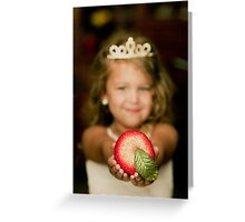 princess girl holding sparkling apple Greeting Card