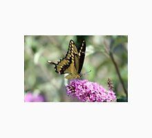 Giant Yellow Swallowtail On Purple Butterfly Bush Unisex T-Shirt