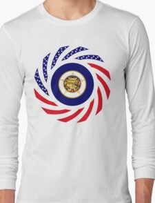 Minnesota Murican Patriot Flag Series Long Sleeve T-Shirt