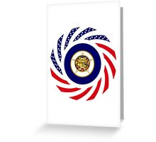 Minnesota Murican Patriot Flag Series Greeting Card