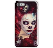Sugar Doll Red Dia De Muertos iPhone Case/Skin