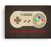 SNES Canvas Print