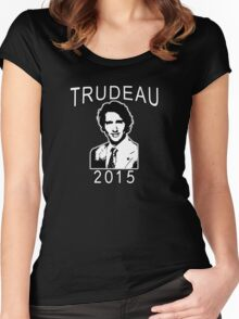 JUSTIN TRUDEAU FOR CANADA Women's Fitted Scoop T-Shirt