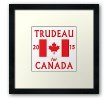 Trudeau for Canada 2015 Framed Print