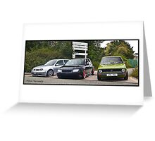 Line Of Dubs  Greeting Card