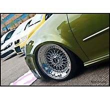 MK5 Golf On BBS RS Rims Photographic Print